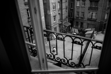Photo noir et blanc Paris